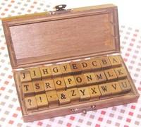 Freeshipping uppercase & lowercase Alphabet stamp gift set/30 piece per set standardized form stamp/Multi-purpose DIY/Wholesale