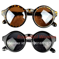 Free Shipping New Super Trendy Retro Round Frame Sunglasses Eyewear UV 400 Unisex Plate Frames 7279