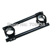 37MM CNC Clip On Handle Bar For HONDA CBR600 F 87-90 VF700 VFR750 86-87 KAWASAKI EX500 94-02 SUZUKI GS500 BLACK