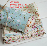 20cm*25cm shabby chic cotton patchwork fabric set quilting sewing textile for tilda cloth 50 designs mix Drop shipping