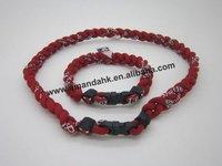 100pcs/lot wholesale titanium 3 ropes necklaces, sport team necklace M-LB/N-CAA/N-FL/N-BA ,high quantity fast delivery.