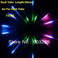 300pcs LX02 5050 DC 12V 4W/pc Meteor Tube 50cm 72 LED Two-sided Meteor Shower Light for Holiday Decoration+Discount Ship