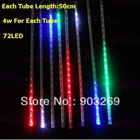 100pcs LX02 5050 DC 12V 4W/pc  Meteor Tube 50cm 72 LED Two-sided Meteor Shower Light for Holiday Decoration+EMS Free