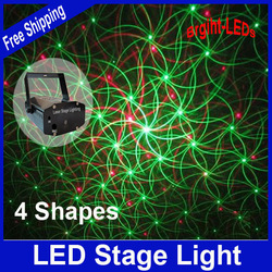 Retail sale 150mW 4in1 Mini Laser stage lighting effect laser projector party dj disco light 110-240V With Tripod Free Shipping(China (Mainland))
