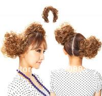 Free Shipping Fashion Hair Bun Wig Elastic Hair Ties Rope Accessories Ponytail Holder Headbands For Women 50Pcs