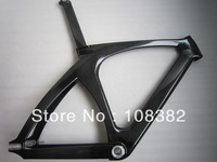 Popular Carbon Track Frame ,Fixed gear bicycle frameset NON -isp 56cm with frok and seat post