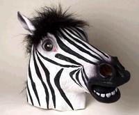 Horse Zebra Head Mask