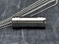 Free Shipping Custom make Mini titanium Capsule keychain necklace Capsule survival gear tool kit