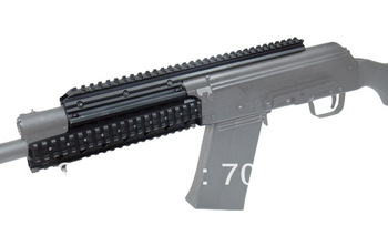 NEW!!! Tactical Saiga Quad Rail System w/Front Forarm Short Vertical Grip Shotgun Handguard
