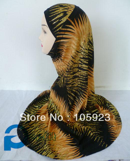 2 piece hijab Islamic hijab scarf head cover fancy khaleeji abaya arabic 10pcs/lot free ship(Hong Kong)
