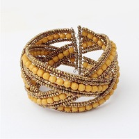 Min.order $10(mix order) New Arrival Fashion Bohemian Bracelet Jewelry wholesale SPX1911 E-JOY LIFE Yellow