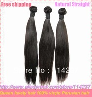 thick queen straight hair virgin human hair extension 2 pcs/lot free shipping unprocessed peruvian hair
