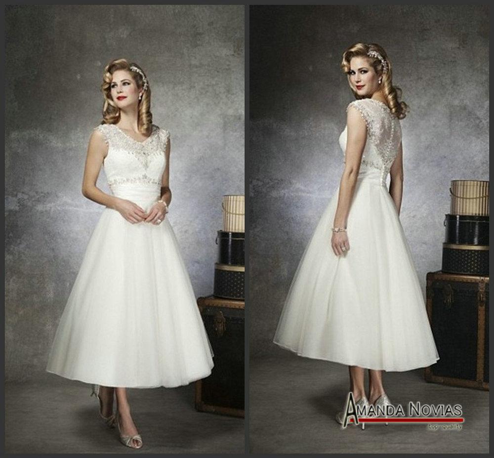 Retro Wedding Dress Tea Length Tea Length Wedding Dresses