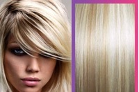 """20""""-26"""" 8pcs Attached Clips in Real Hair Extensions #27/613 Color 105g in Women's Beauty Hairsalon in Fashion #10"""