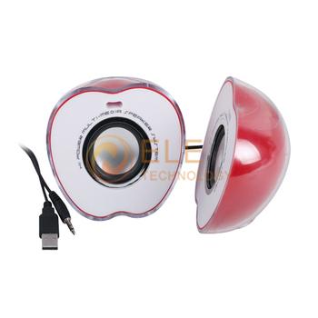 Cute colorful lights laptop computer audio mini portable speaker USB subwoofer audio