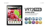 "Presell Onda V972 9.7"" Retina screen Allwinner A31 Quad core CPU 2GB DDR3 Android 4.1 Autofocus camera 5.0MP 2048x1152 pixel"
