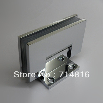 H shape brass chrome plated wall mounting spring shower hinge,glass clamp,glass door hinge--for 8--12mm tempered flat glass