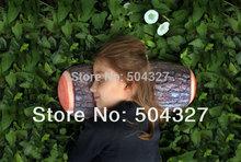 Free Shipping 1Piece Green Log Pillow Wood Grain and Wood Throw Pillows 38*16.5 cm(China (Mainland))