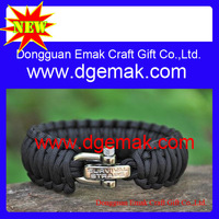 Wholesale Special jewelry Paratroopers rope Bracelet Lifesaving Bracelet