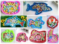 10sets/lot Boxed erasers of Santa  Flag Rabbits Dolphins Apples  Bears Dinosaurs Ali Cars Sharks Designs free shipping
