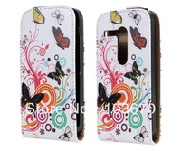 New Fashion Butterfly Flower Magnetic Flip Leather Case for Motorola Moto G Phone Bags Pouch Cover Skin