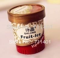 Free shipping high quality lip balm Lip Smacker fruite ice cream for children man woman 6 flavours 2pcs/lot