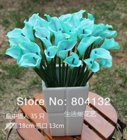 New Arrivals Top Selling 24pcs 35cm Real Touch PVC Artificial Calla Lily for Wedding Flower Bridal Bouquets Home Party ecoration