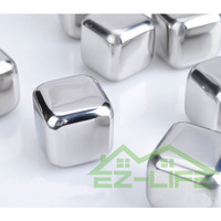20pcs+4gift bags creative gift Whiskey rocks, SUS304 Stainless steel ice stones beer wine physical cooling ice  cube