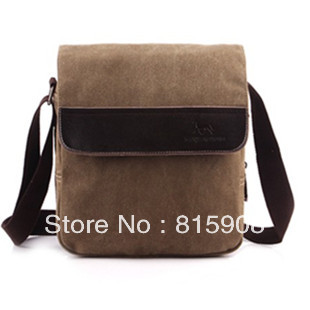 Brief Fashion Canvas Women Handbag lovers Shoulder Bag Canvas Genuine Leather Messenger bag(China (Mainland))
