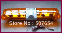 Free shipping! High quality 1.2m warning lightbar/rotate lightbar/truck lightbar(4pcs Rotating Halogen lamp+2pcs Flashing lamp)