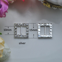 (S0003) 10mm inner bar Rhinestone buckle, Quality upgrade! crystal buckles100pcs/lot,silver or gold plating