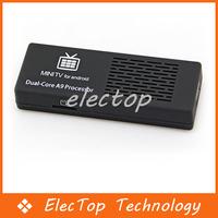 Mini PC TV Box Dual Core RK3066 A9 1.6GHz MK808 Bluetooth Android 4.1 8GB ROM WiFi HDMI 20pcs/lot Wholesale