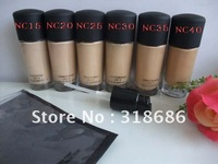 Free shipping 6pcs/lot makeup liquid Foundation studio fix fluid SPF15 plus Foundation Pump 30ml (NC15,NC20,NC25,NC30,NC35,NC40)