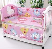 Cover for 10pc crib bedding sets,100% cotton hello kitty crib bedding set,size 140*70/130*70 hello kitty queen comforter set