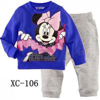 Latest Style 6 Sets/Lot Baby Kids Pajamas Children   2-7 years baby  baby set XC-105