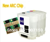 Free shipping new refillable ink cartridge with ARC chip for HP940 and HP Officejet Pro 8000/8500 printer