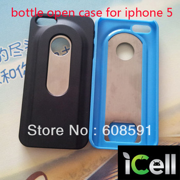 Newest Beers Bottle Opener hard Case For Iphone 5 5s , Hard Case With Stainless Steel Bottle Opener ,10pcs/lot freeshipping