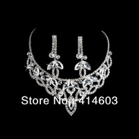 2012 Holiday Sale-Free Shipping High quality Love & Horse eye Crytal Bridal Jewelry Sets Best Wedding Jewelry Sets 2T147