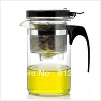 FREE SHIPPING+ Coffee & Tea Sets +500ml glass teapot+with filter+easy to use+2012new cup