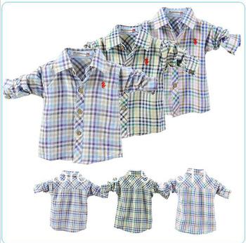 free shipping 4pcs/lot boy tshirt kids long blouses fashion design spring wear