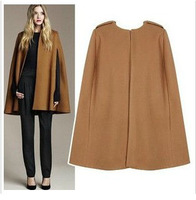 Shanghaimagicbox  Women Fashion Cloak Cape Overcoat Outwear Coat Black Camel New WCOT084