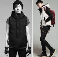 FREE SHIPPING,Male winter cotton vest men's clothing casual vest winter wear ,Men's garments, 2 colors