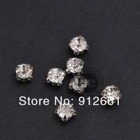 Free shipping(288pcs/lot)7mm loose claw rhinestone cupchain diamond garment clothing accessory