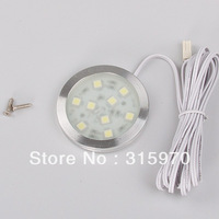 led puck light 12VDC Super Slim And Bright Round Cabinet Lamp Led Led Step Light Back Light For The Bar 9*5050SMD