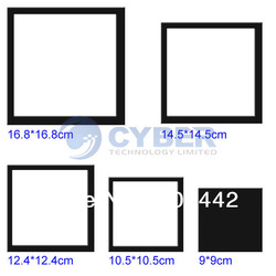 New Square Stereoscopic 3D Acrylic Wall Stick Photo Frame Sticker Home Room Decoration Black Free Shipping 4715(China (Mainland))