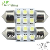 Free shipping 20pcs/lot 31mm Cold White 3528 SMD 6 LED Car Interior Roof Festoon Dome Map Light Bulb