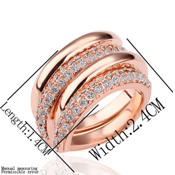 EVJZ18K(25) Fashion Jewelry Jewellery 18K GP Rose Gold Plated Artificial jade Classic Women Rings Nickle free antiallergic(China (Mainland))