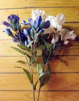 Vintage! aritifical blue/white autumn silk lily long stems, wedding decoration centerpieces, valentine's day table decoration