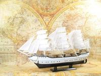 80CM long wooden ship model