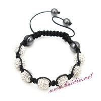 2013 new fashion shamballa bracelet 6pcs/lot red white black mixed sell bracelet jewelry manufacture